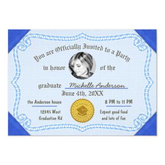 2017 het Certificaat van de Graad van het Diploma 12,7x17,8 Uitnodiging Kaart