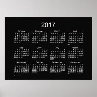 2017 Kalender van de Muur van het Neon de Witte Poster