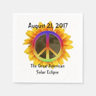 2017 ZonneVerduistering, Zonnebloem en het Symbool Papieren Servetten