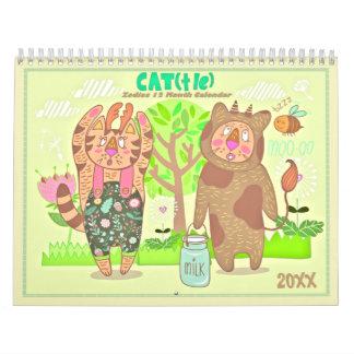 2018 de Kalender van de Katten van de Dierenriem
