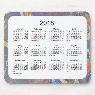 2018 de Kalender van de Kunst van de Vakantie door Muismat