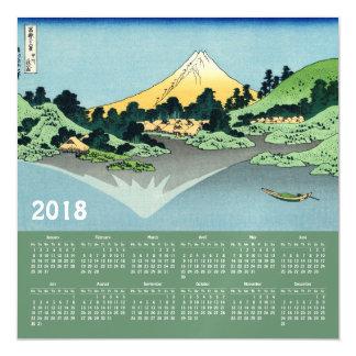 2018 de magnetische kaart van de Kalender Hokusai