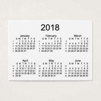 2018 de Witte Kalender van 52 Week door Janz Visitekaartjes