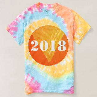 2018 GELUKKIGE stropdas-Kleurstof NEWYEAR T-shirt