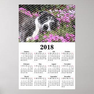 2018 het Jaarlijkse Poster van de Kalender van de