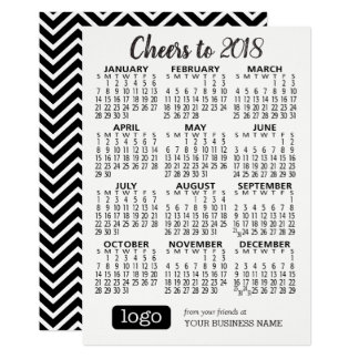 2018 Kalender met Handelsnaam & het Zwarte Wit van Kaart