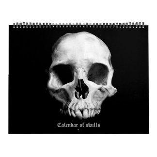 2018 Kalender van schedels