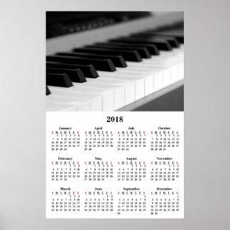 2018 Poster van de Piano van de Muziek van de