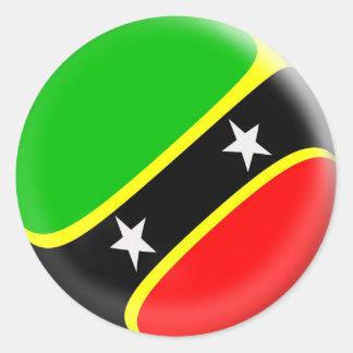 20 kleine stickers Heilige Kitts & Nevis vlag