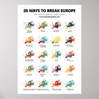 20 manieren om Europa te breken Poster
