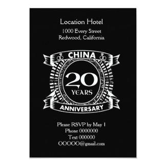 20TH huwelijksverjaardag China Kaart