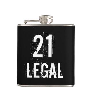21 en Wettelijk om Verjaardag te drink Grunge Heupfles