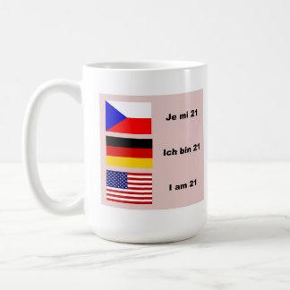 21 in 3 talen koffiemok