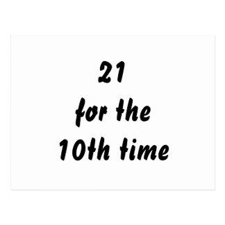 21 voor de 10de keer. 30ste Verjaardag. Zwart Wit Briefkaart