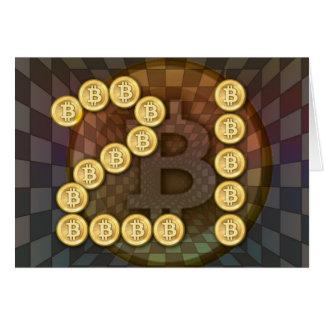 21ste verjaardag met een bitcointhema kaart