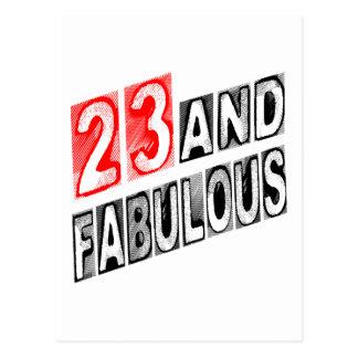 23 en Fabelachtig Briefkaart