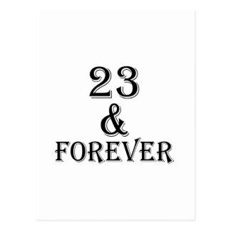 23 en voor altijd het Design van de Verjaardag Briefkaart