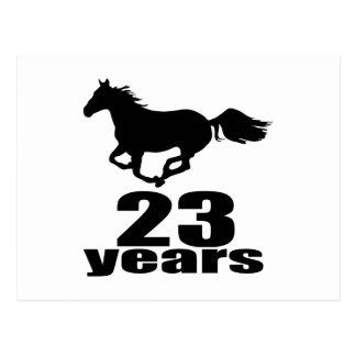 23 het Design van de Verjaardag van de jaar Briefkaart