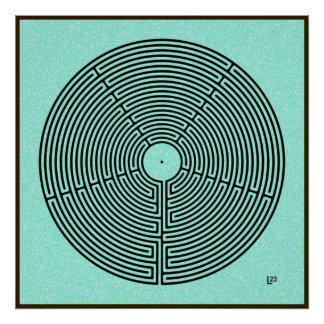23 het Labyrint van de kring Poster
