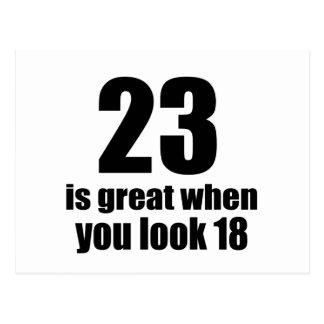 23 is Groot wanneer u Verjaardag kijkt Briefkaart