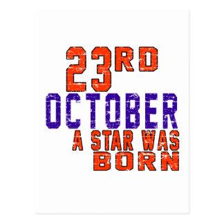 23 Oktober een ster was geboren Briefkaart