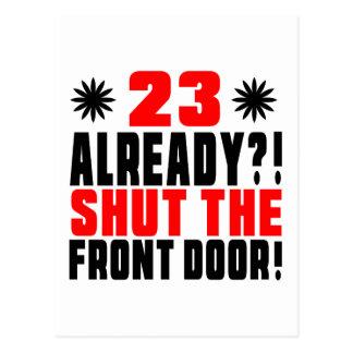 23 reeds?! Sluit de Voordeur! Briefkaart