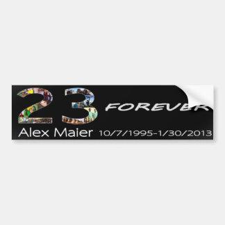 23 voor altijd Alex Maier Bumpersticker