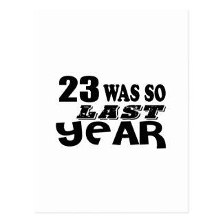 23 zo was zo vorig jaar het Design van de Briefkaart