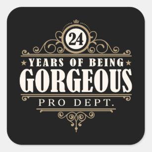 24ste Verjaardag Stickers Zazzle Nl