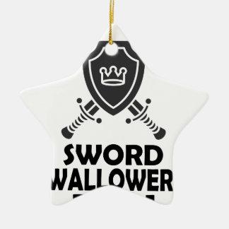 25 Februari - de Dag van Swallower van het Zwaard Keramisch Ster Ornament