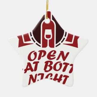 25 Februari - open Die Nacht van Fles Keramisch Ster Ornament