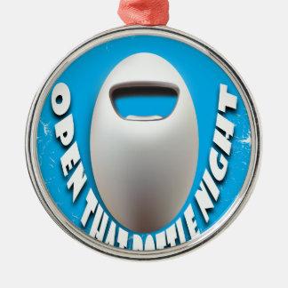 25 Februari - open Die Nacht van Fles Zilverkleurig Rond Ornament
