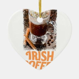 25 Januari - de Dag van de Irish coffee Keramisch Hart Ornament