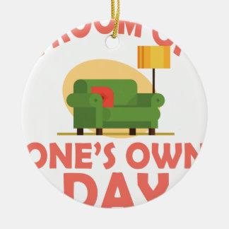 25 Januari - een Zaal van Zijn eigen Dag Rond Keramisch Ornament