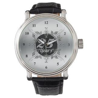 25ste Elegant Jubileum | van de Zilveren bruiloft Horloge