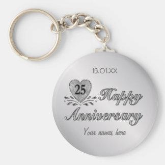 25ste Jubileum - Zilver Sleutelhanger