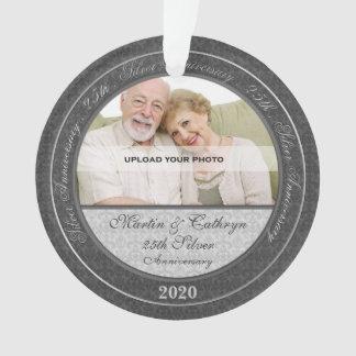 25ste Zilveren Jubileum   het Ornament van de Foto