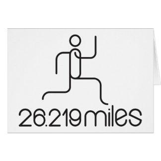 26.219 van de marathonmijlen afstand wenskaart
