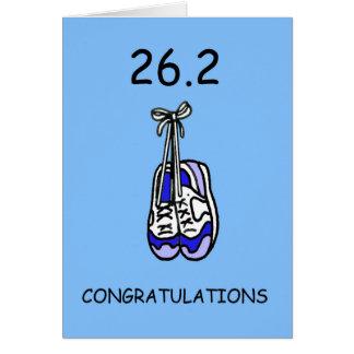 26.2 de Gelukwensen van de marathon voor mannetje Kaart