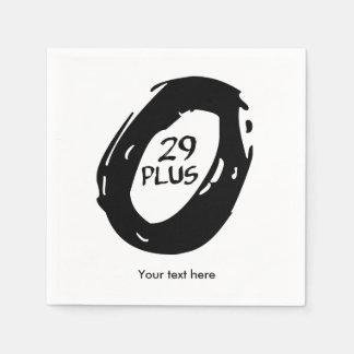 29er plus fiets papieren servetten