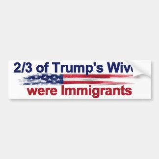 2/3 van de Vrouwen van de Troef was Immigranten Bumpersticker