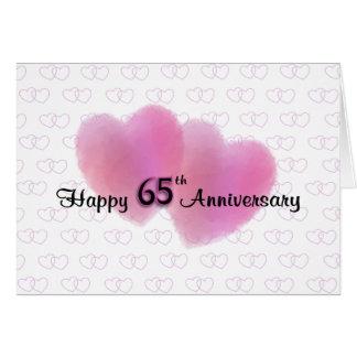 2 de Gelukkige 65ste Verjaardag van harten Wenskaarten