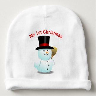 2 de leuke Cartoons van de Sneeuwmannen van Baby Mutsje