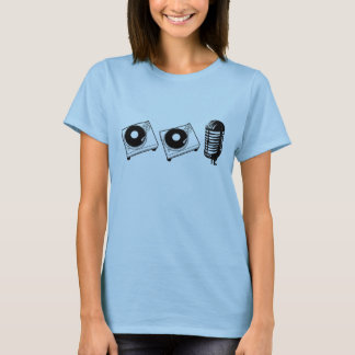 2 draaischijven en een microfoon t shirt