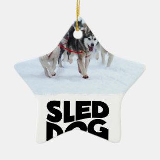 2 Februari - de Dag van de Hond van de Slee Keramisch Ster Ornament