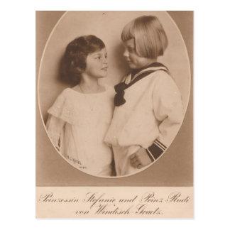 2 kinderen Habsburg/windisch-Graetz #046H Wenskaart