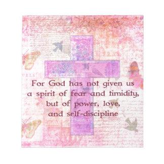 2 scripture van het het 1:7 Bijbelse citaat van he Notitieblok