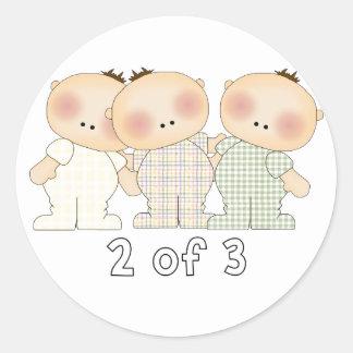 2 van 3 Drietallen Ronde Sticker
