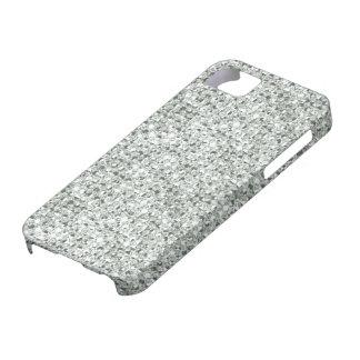 2D Vlakke, Gedrukte Zilveren iPhone 5 van Juwelen Barely There iPhone 5 Hoesje