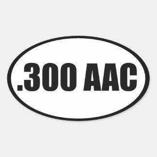 .300 AAC OVALE STICKER